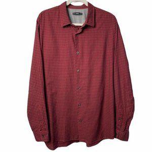 Vince Red Black Button Down Shirt Size XL X-Large